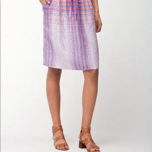 Tommy Bahama My Big Greek Plaid Linen Skirt